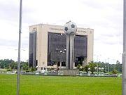 Edificio de la Confederación Sudamericana de Fútbol en Luque (Gran Asunción).