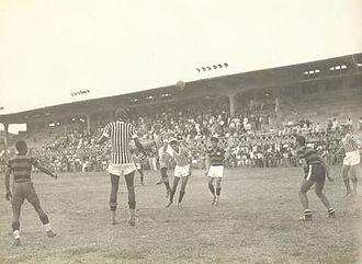 Clube de Regatas do Flamengo–Clube Atlético Mineiro rivalry - A match between Atlético Mineiro and Flamengo at the Estádio Presidente Antônio Carlos, 1943.
