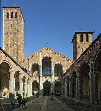 Milan - The Basilica di Sant'Ambrogio, it is not only a monument of the early Christian and medieval epoch, but also the second church for the importance of the city of Milan.