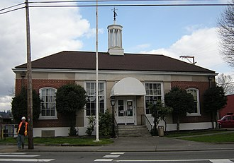 National Register of Historic Places listings in King County, Washington - Image: Auburn, WA former post office 01A