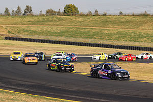 Aussie Racing Cars - The first lap of an Aussie Racing Cars race at Sydney Motorsport Park in 2015.