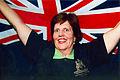 Australian paralympic shooter, Elizabeth Kosmala with the Australian flag.jpg