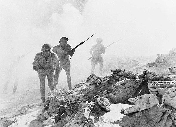 Australiensiska trupper under motanfallet vid el-Alamein