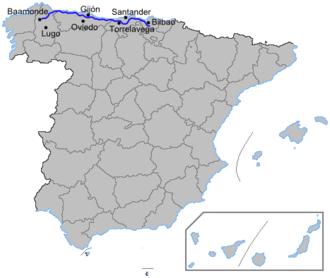 Autovía A-8 - Image: Autoviaesp a 8