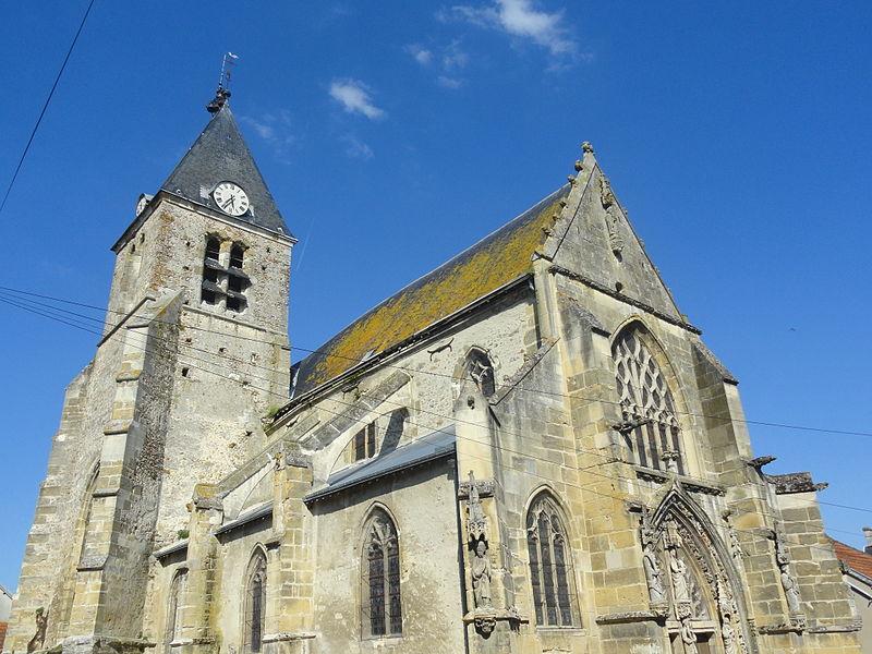 L'église Saint-Trésain d'Avenay-Val-d'Or (Marne, France) depuis l'ouest.