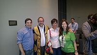 Avner and Darya's wiki Wedding at Wikimania by ovedc 21.jpg