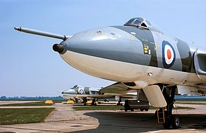 Royal Air Force roundels - Type D roundels on Avro Vulcans of No 617 Squadron at RAF Cottesmore, circa 1975.