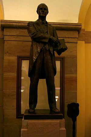 Charles Brantley Aycock - Aycock statue in the U.S. Capitol