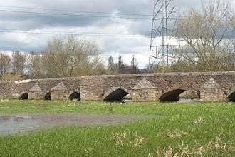 Scheduled monuments in Leicester - Image: Aylestone Packhorse Bridge detail