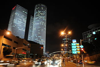 Azrieli Center at night, 2009.JPG