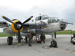 Yankee Air Museum - Yankee Warrior, one of only two B-25C/D Mitchell aircraft still flying today.