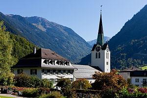 Schwanden, Glarus - The church in Schwanden