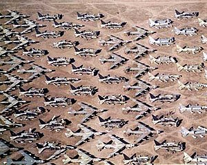Cut-up and stored Boeing B-52s, 309th Aerospac...