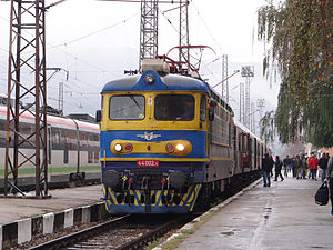 Bulgarian State Railways - Image: BDZ Trains Pernik Railway Station