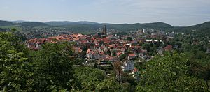 Bad Wildungen - Overlooking the town