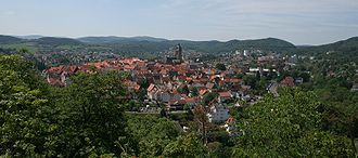 Bad Wildungen - Overlooking the town