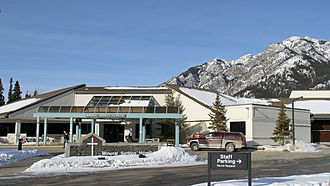 Banff – Mineral Springs Hospital - Banff - Mineral Springs Hospital main entrance