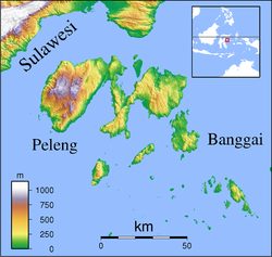 Banggai Islands Regency is located in Banggai Islands
