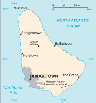 Barbados-CIA WFB Map