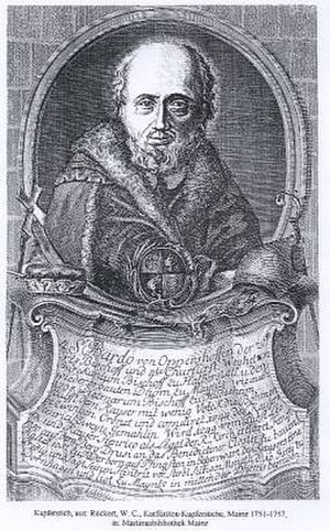 Bardo (bishop) - Copperplate engraving by Rückert; 1751-1757