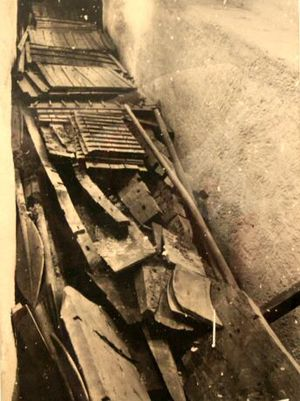 Khufu ship - Solar bark of Kheops. Situation when discovered.
