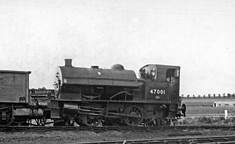 LMS Kitson 0-4-0ST - No. 47001 at Barrow Hill (Staveley) Locomotive Depot 23 August 1963.