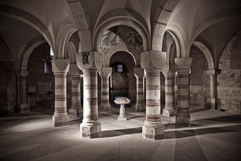 15: Interior view of baptistery of St. Peter, San Pietro in Consavia church, Asti, ItalyAuthor: Marco Odina