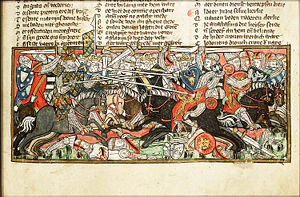 Battle of Vouillé - Battle of Vouillé as depicted in the 14th century