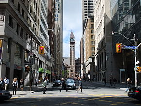 Bay Street looking towards Old City Hall , its terminating vista south ...