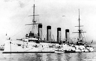 Russian cruiser Bayan (1900) - Image: Bayan 1903Kronstadt