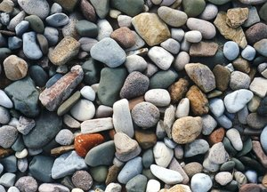 Rocks of various sizes on a beach