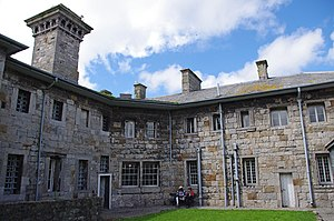 Beaumaris Gaol - A section of the jail from inside the courtyard