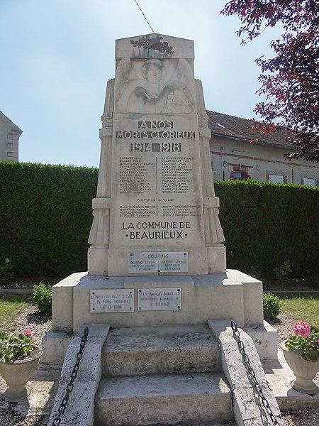 Beaurieux (Aisne) Monument aux morts