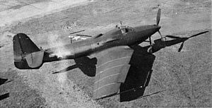 Bell P-63 Kingcobra - L-39 with swept wings, extended rear fuselage, ventral tail fin and P-39 prop