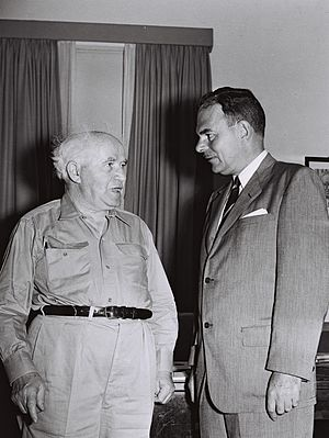 Thomas E. Dewey -  Former New York Governor Thomas E. Dewey visiting David Ben-Gurion. October, 1955
