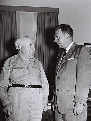 Thomas E. Dewey -  Former New York Governor Thomas E. Dewey visiting David Ben-Gurion. October, 1955