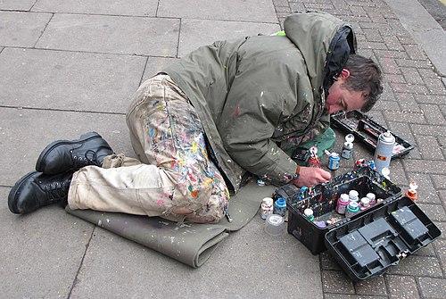 Ben Wilson.Chewing gum artist at work