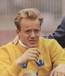 Benke Nilsson efter skaden under OS 1956
