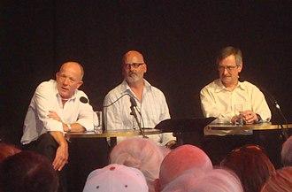 The Press - Joe Bennett (left), Andrew Holden (former editor of The Press), and Rod Oram