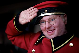 Benny Hill - Wax figure of Hill