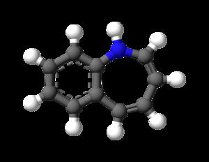 Benzazepine - Image: Benzazepine 3D balls