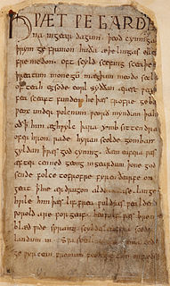 <i>Beowulf</i> Old English epic story