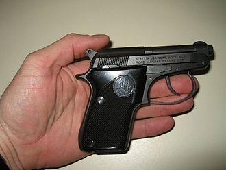 Beretta 21A Bobcat - Image: Beretta Model 21 In Hand