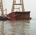 Berging kruiplijn Coaster Susanne in de Westerschelde door de firma Smit tak ID52525.jpg