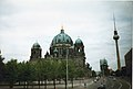 Berlin Cathedral and TV Tower from Schlossbrücke.jpg