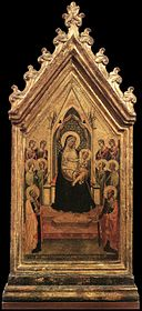 Bernardo daddi, Madonna and Child Enthroned with Angels and Saints.jpg