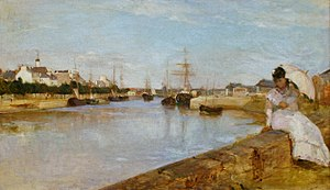 Lorient - The Harbor at Lorient, 1869 painting by Berthe Morisot.