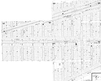 Berwyn, Illinois - Sanborn Fire Maps show the development of the Berwyn subdivision by 1895.