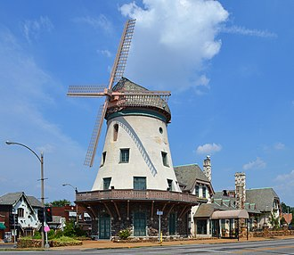 Bevo Mill, St. Louis - The Bevo Mill Restaurant, namesake of the neighborhood  (located at the intersection of Morganford and Gravois)