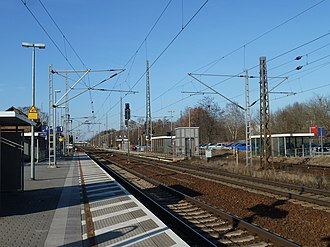 Ludwigsfelde station - Platforms, view to the north